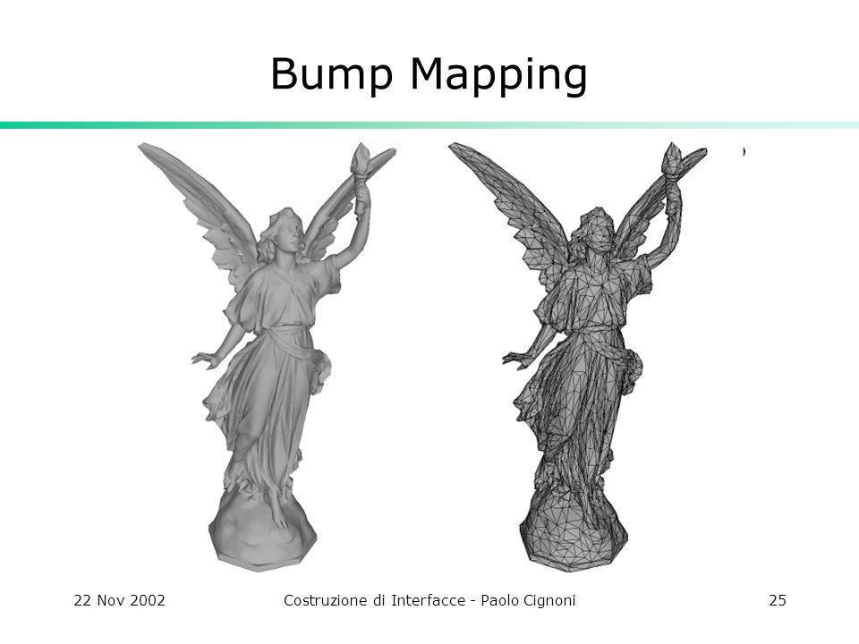 22 Nov 2002Costruzione di Interfacce - Paolo Cignoni25 Bump Mapping