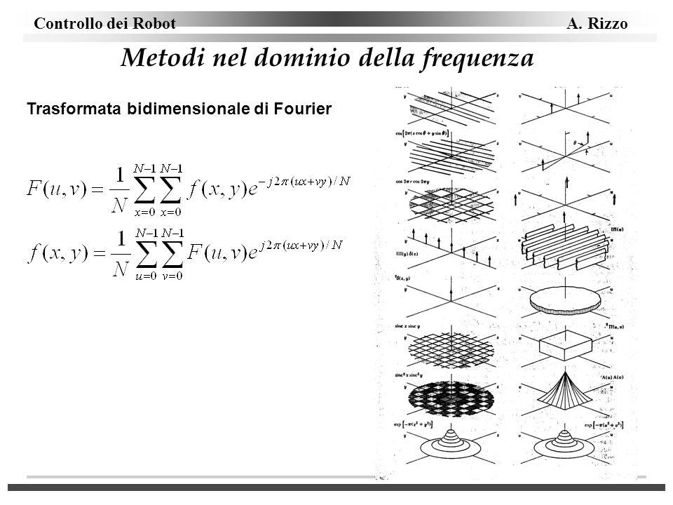 Controllo dei Robot A. Rizzo Metodi nel dominio della frequenza Trasformata bidimensionale di Fourier