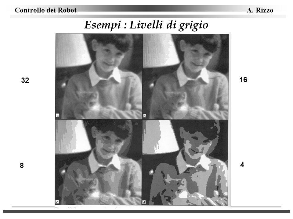 Controllo dei Robot A. Rizzo Esempi : Livelli di grigio 32 16 8 4