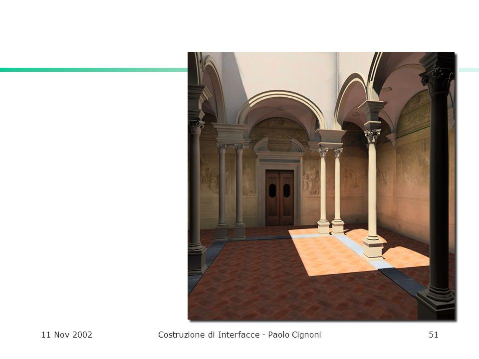 11 Nov 2002Costruzione di Interfacce - Paolo Cignoni51