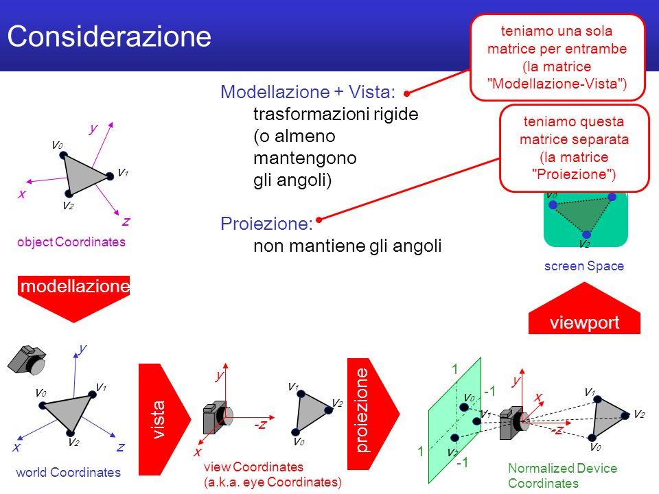 M a r c o T a r i n i S i s t e m i M u l t i m e d i a l i I I 2 0 0 4 / 0 5 U n i v e r s i t à d e l l I n s u b r i a - 61/40 Considerazione x y z v0v0 v1v1 v2v2 world Coordinates y -z v0v0 v1v1 v2v2 view Coordinates (a.k.a.