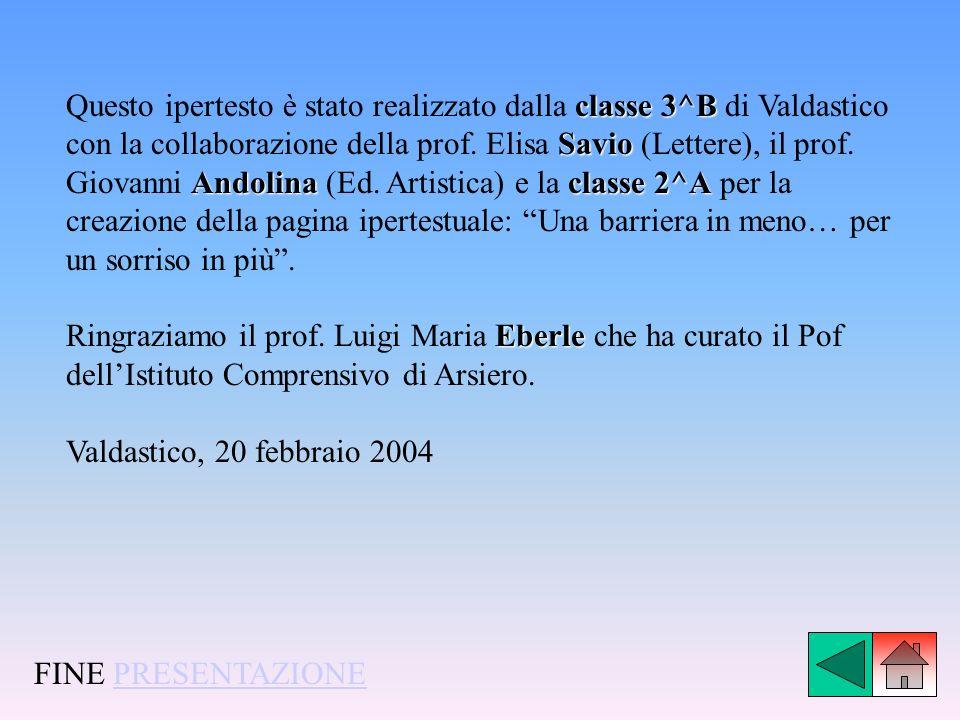 classe 3^B Savio Andolinaclasse 2^A Questo ipertesto è stato realizzato dalla classe 3^B di Valdastico con la collaborazione della prof. Elisa Savio (