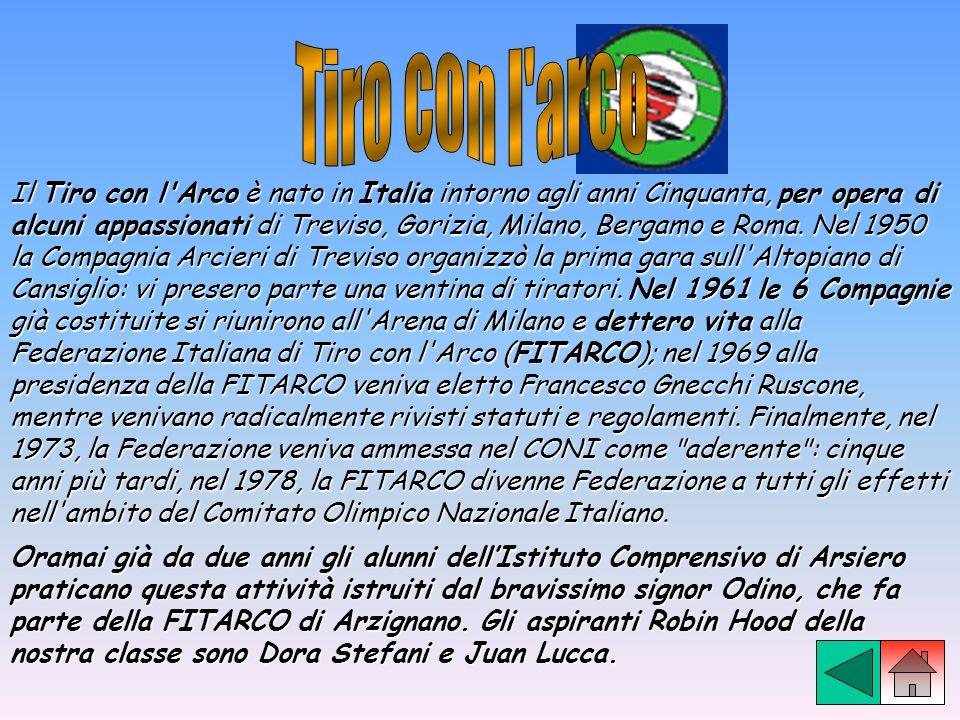 Il Tiro con l'Arco è nato in Italia intorno agli anni Cinquanta, per opera di alcuni appassionati di Treviso, Gorizia, Milano, Bergamo e Roma. Nel 195