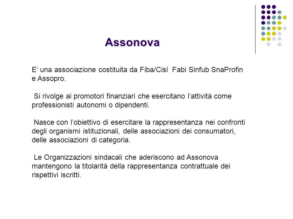 E una associazione costituita da Fiba/Cisl Fabi Sinfub SnaProfin e Assopro.