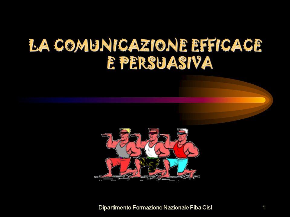 Dipartimento Formazione Nazionale Fiba Cisl2 Emisfero destro emozionale La comunicazione efficace Emisfero sinistro razionale