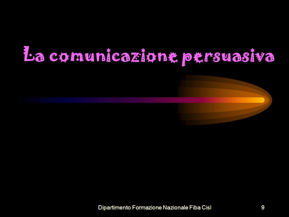 Dipartimento Formazione Nazionale Fiba Cisl10 Le fasi della comunicazione persuasiva 1.