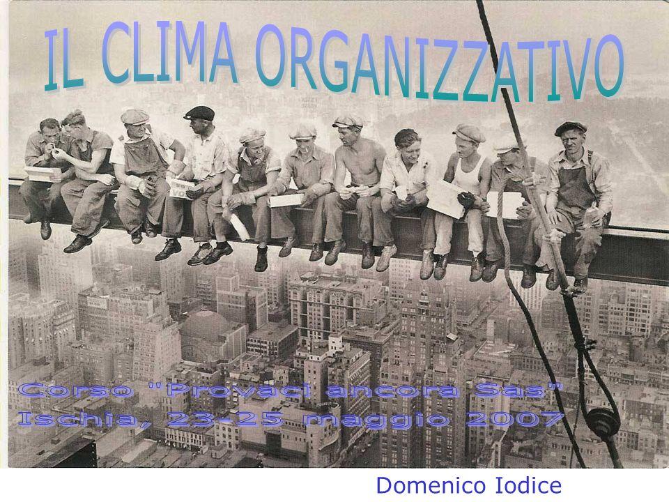 APPROCCIO STRUTTURALE Il clima è una manifestazione oggettiva della struttura organizzativa.