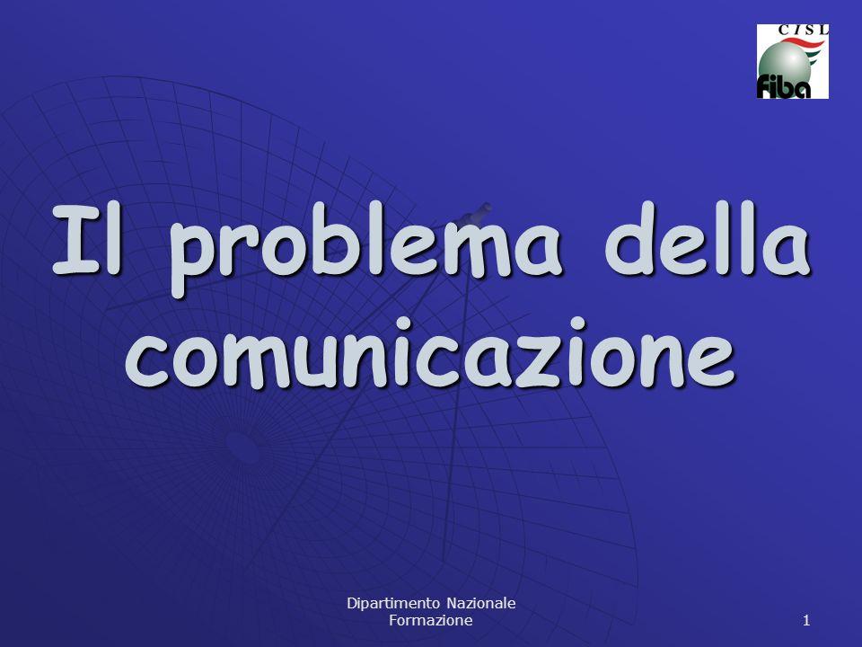 Dipartimento Nazionale Formazione 1 Il problema della comunicazione