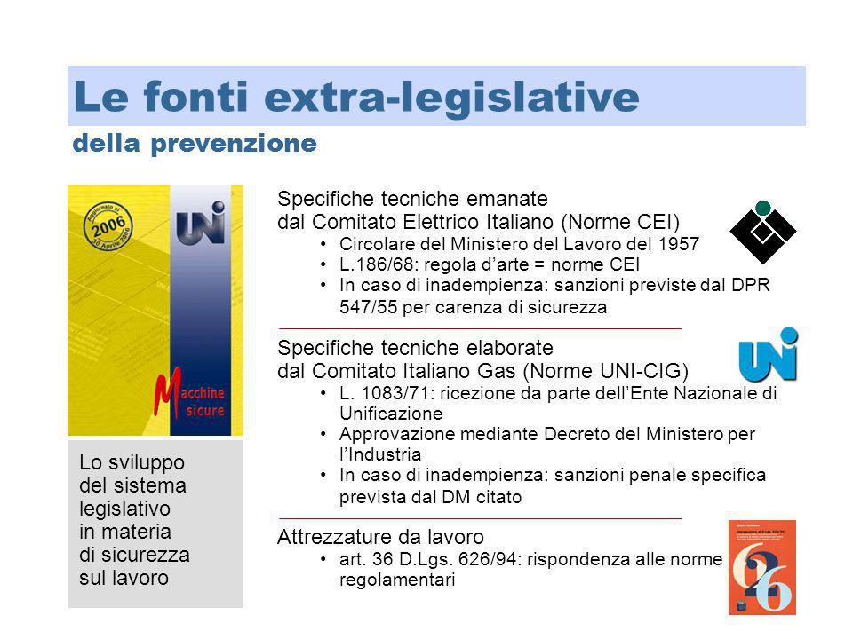Attrezzature da lavoro art. 36 D.Lgs. 626/94: rispondenza alle norme regolamentari Specifiche tecniche elaborate dal Comitato Italiano Gas (Norme UNI-