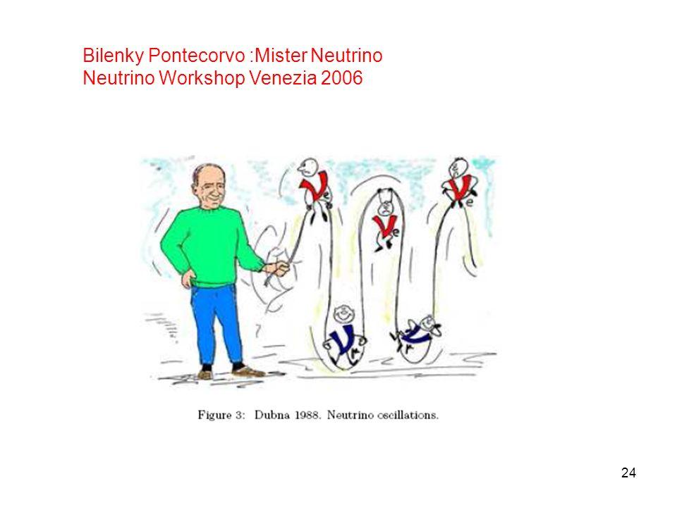 24 Bilenky Pontecorvo :Mister Neutrino Neutrino Workshop Venezia 2006