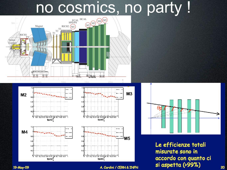 no cosmics, no party !