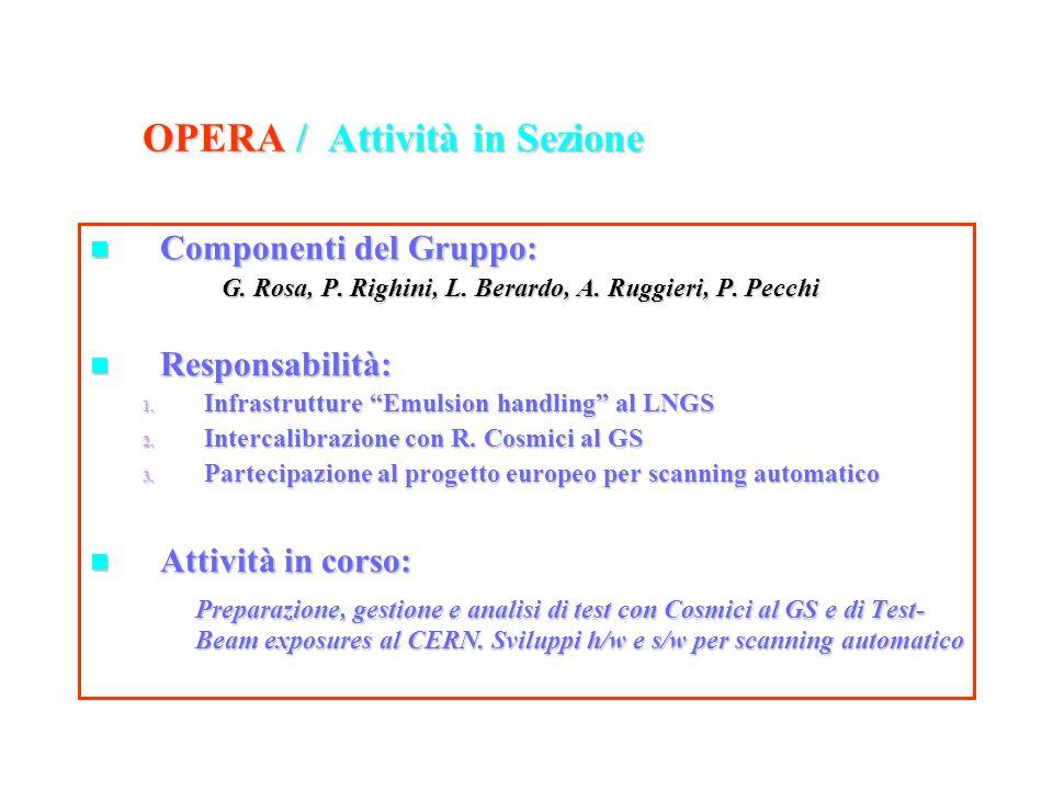 ubaldo dore oscillazioni32 OPERA / Attività in Sezione Componenti del Gruppo: Componenti del Gruppo: G. Rosa, P. Righini, L. Berardo, A. Ruggieri, P.