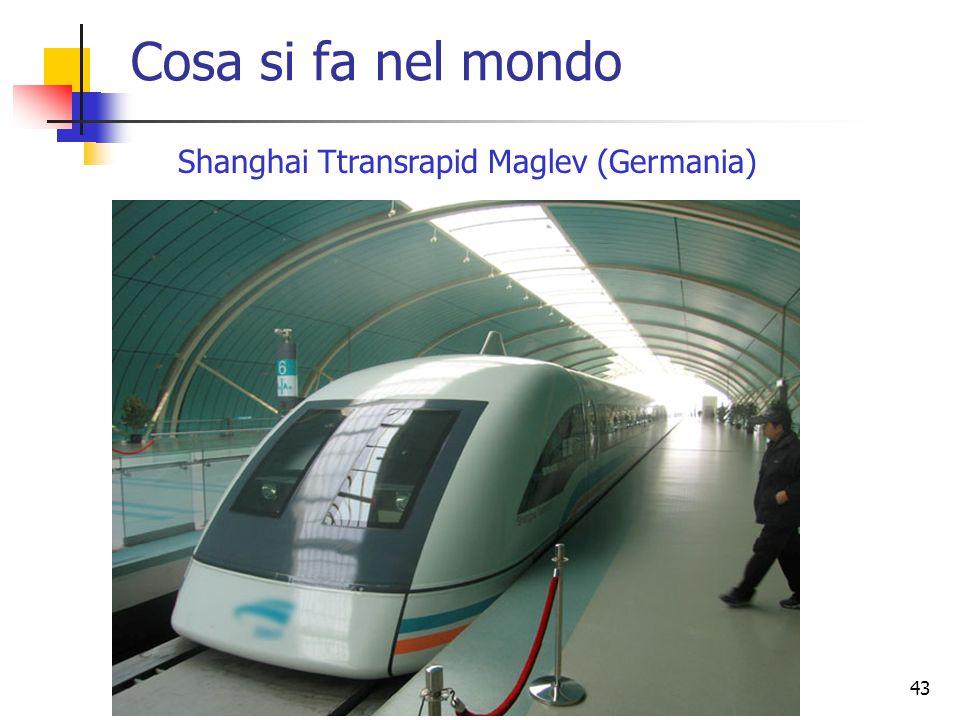 43 Cosa si fa nel mondo Shanghai Ttransrapid Maglev (Germania)
