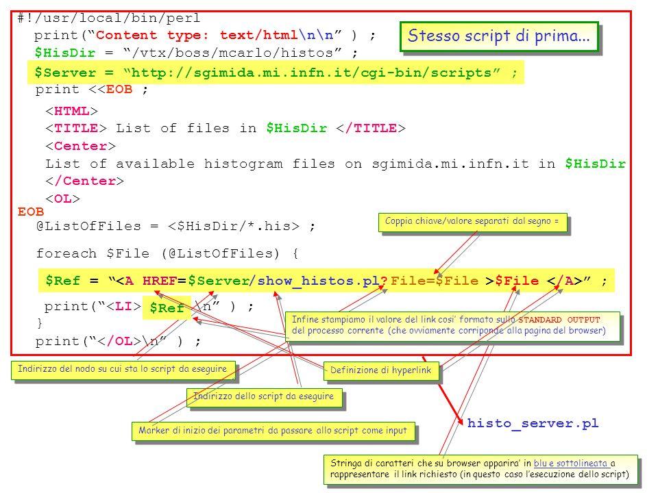 66 No, basta una piccola modifica allo script di prima, in aggiunta ad un nuovo script che faccia girare PAW per fornire ls lista richiesta. Vediamo c