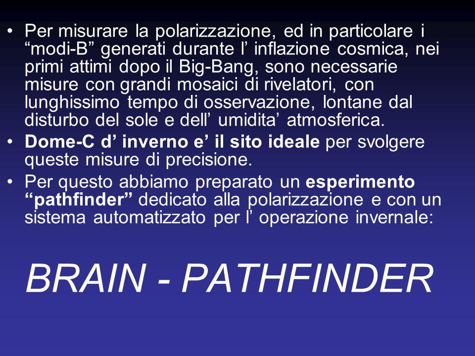 L esperimento e stato preparato a La Sapienza e installato a Dome-C nel Gennaio 2006.