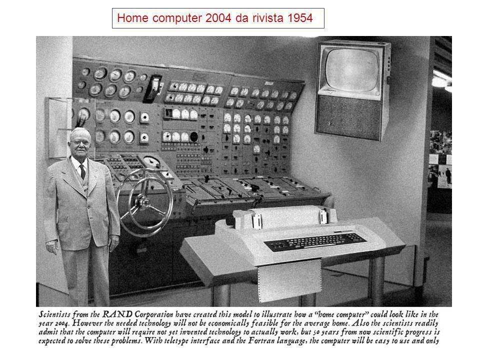 Laboratorio di Calcolo3 Architettura hardware : Basata sul modello della macchina di Von Neumann (Priceton, 1946). IAS machine a valvole. Programma in