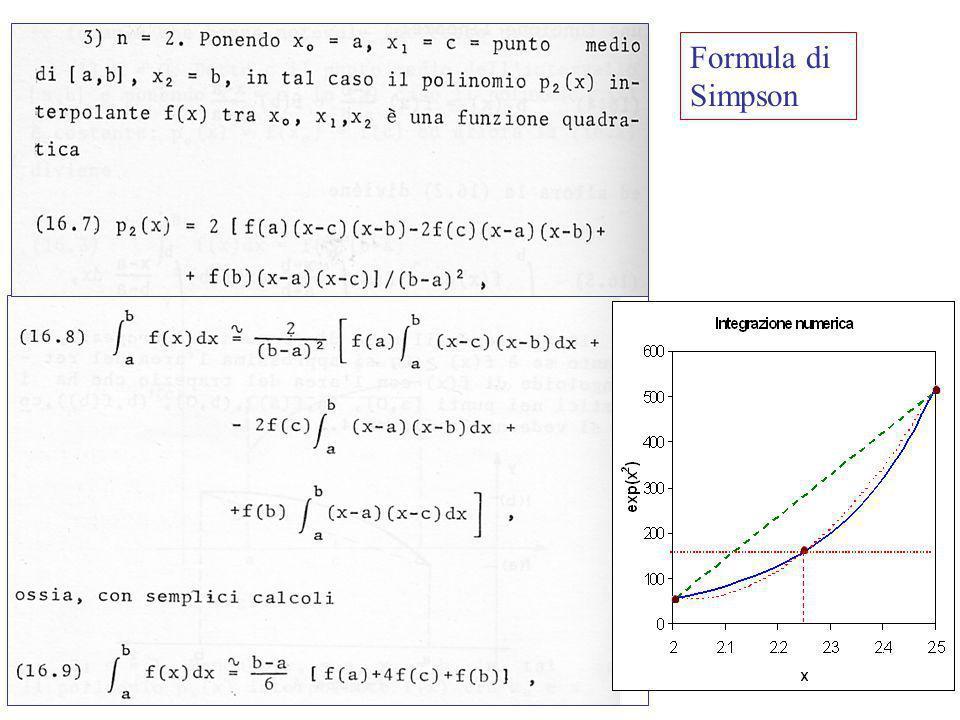 Laboratorio di Calcolo53 Formula del trapezio