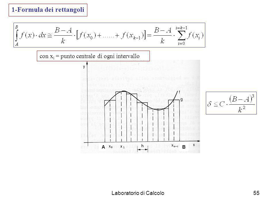 Laboratorio di Calcolo54 Formula di Simpson