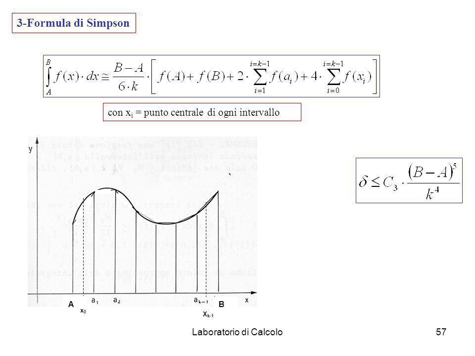 Laboratorio di Calcolo56 2-Formula dei trapezi AB