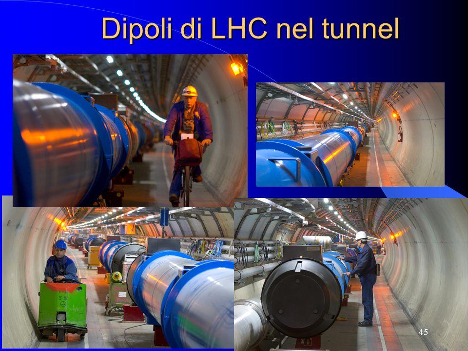 Dipoli di LHC nel tunnel 45