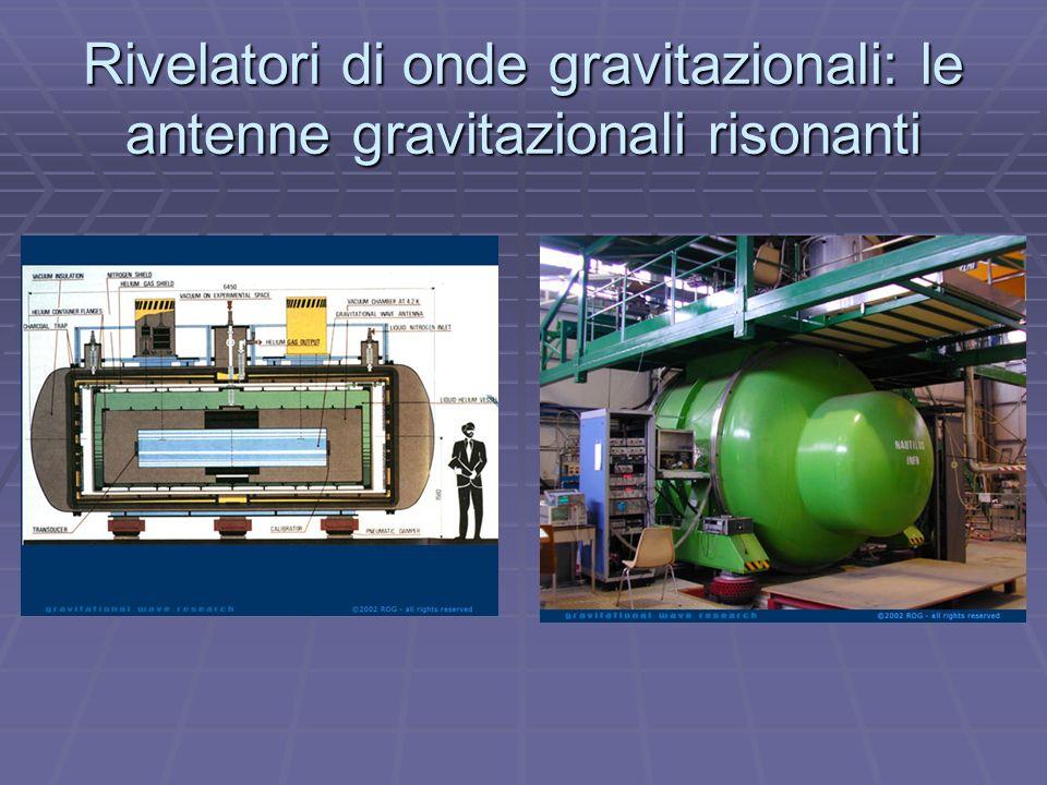 Rivelatori di onde gravitazionali: le antenne gravitazionali risonanti