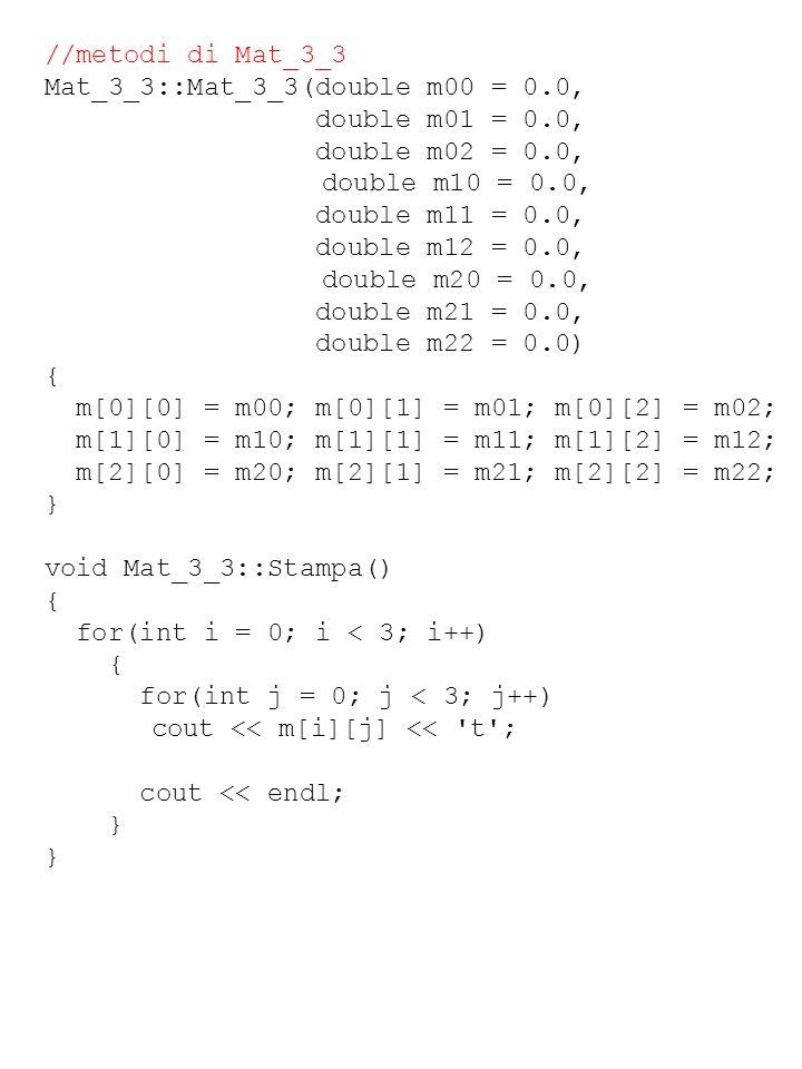 //metodi di Mat_3_3 Mat_3_3::Mat_3_3(double m00 = 0.0, double m01 = 0.0, double m02 = 0.0, double m10 = 0.0, double m11 = 0.0, double m12 = 0.0, doubl