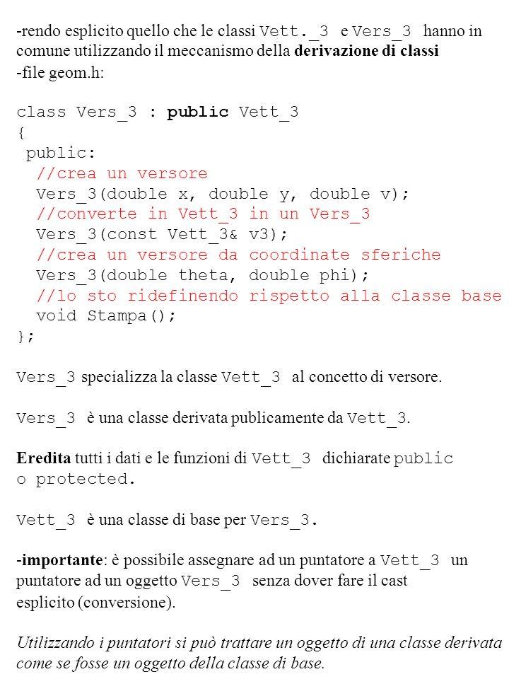 -rendo esplicito quello che le classi Vett._3 e Vers_3 hanno in comune utilizzando il meccanismo della derivazione di classi -file geom.h: class Vers_