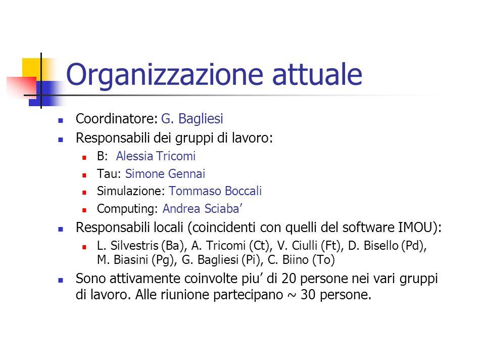 Organizzazione attuale Coordinatore: G.