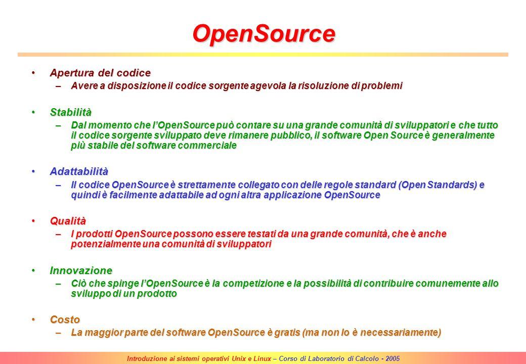 Introduzione ai sistemi operativi Unix e Linux – Corso di Laboratorio di Calcolo - 2005 Linux Linus Torvalds, studente delluniversità di Helsinki, ini