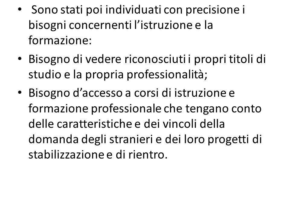 Lapprendimento e lo sviluppo della lingua italiana come seconda lingua deve essere al centro dellazione didattica.