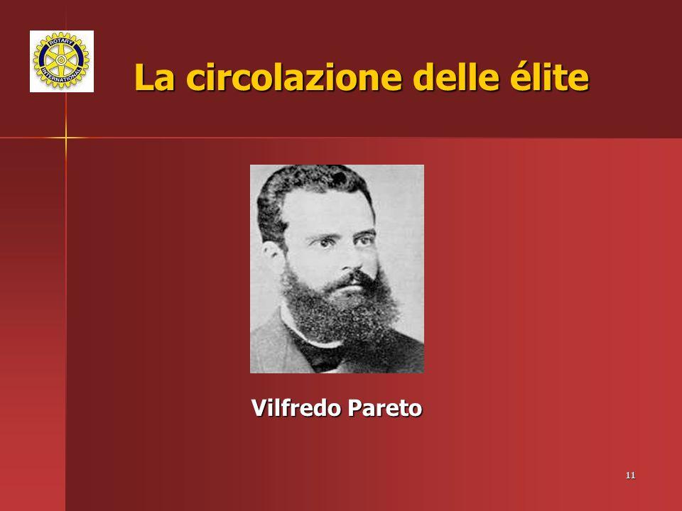 11 La circolazione delle élite Vilfredo Pareto