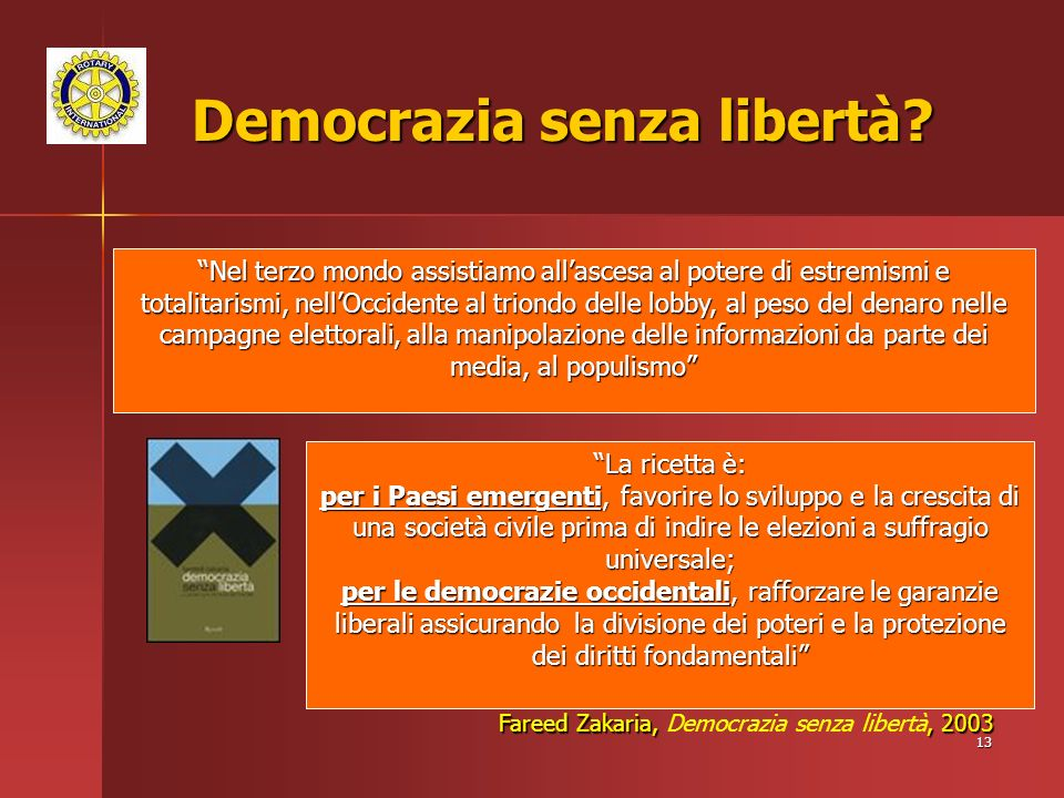 13 Democrazia senza libertà.