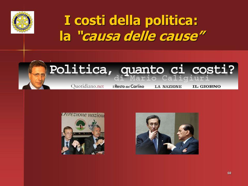 60 I costi della politica: la causa delle cause