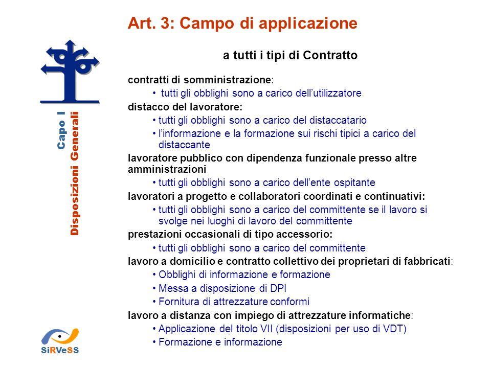Capo I Disposizioni Generali Art.