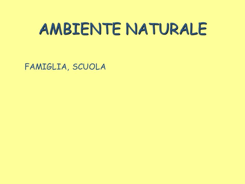 AMBIENTE NATURALE FAMIGLIA, SCUOLA