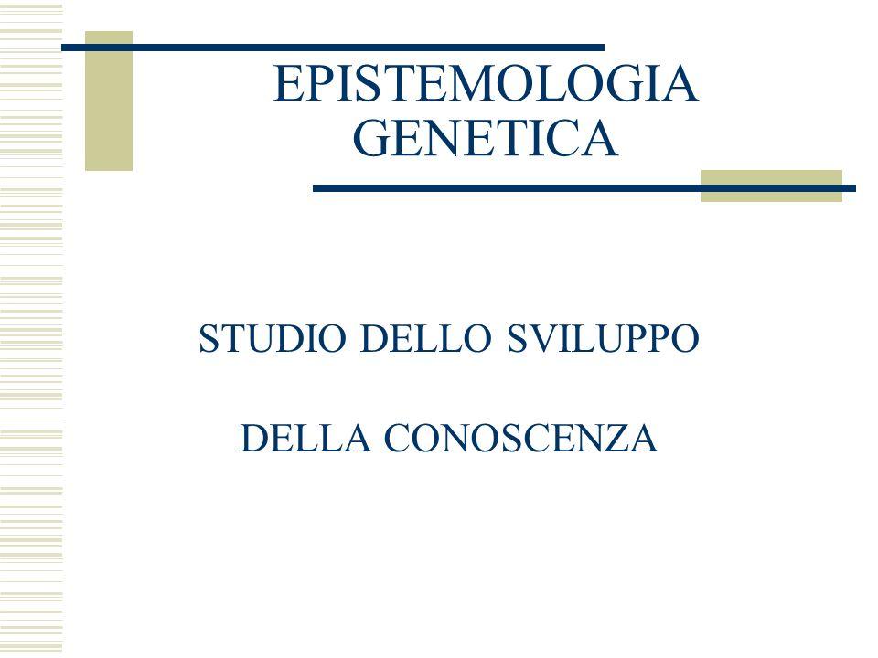 EPISTEMOLOGIA GENETICA STUDIO DELLO SVILUPPO DELLA CONOSCENZA