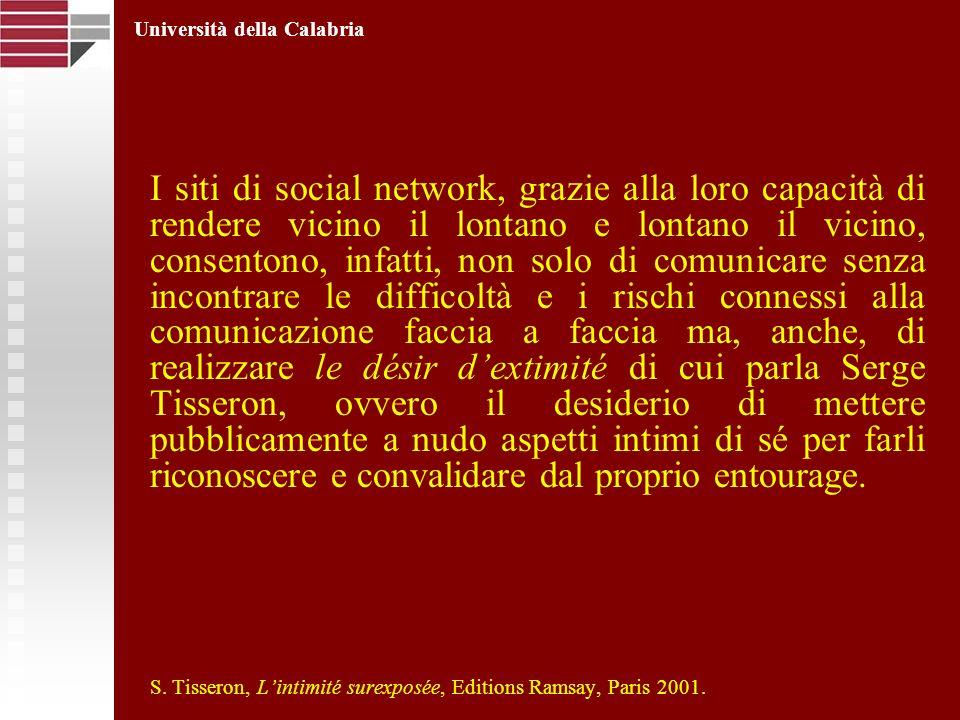 I siti di social network, grazie alla loro capacità di rendere vicino il lontano e lontano il vicino, consentono, infatti, non solo di comunicare senz