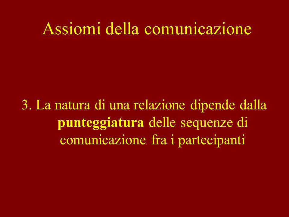 Fa riferimento ad una comunicazione circolare e bidirezionale (comunicazione intesa come scambio di significati e non come trasmissione unidirezionale da un soggetto ad un altro).