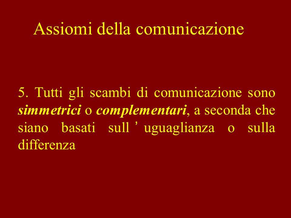 In generale… uno scambio simmetrico avviene fra interlocutori che si considerano sullo stesso piano, svolgendo funzioni comunicative e ruoli sociali analoghi.