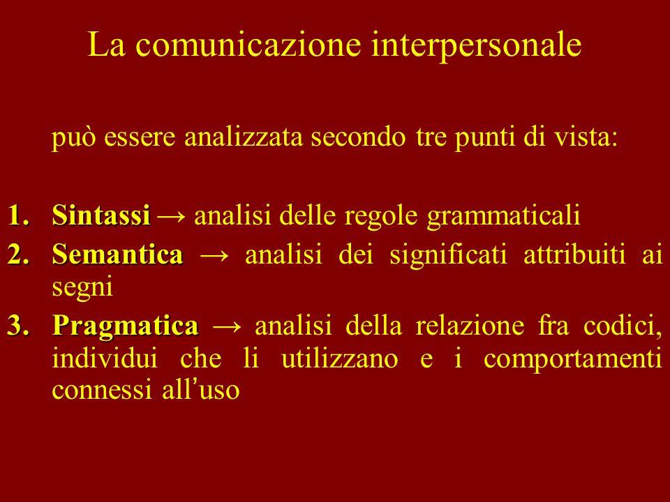 La Sociologia della comunicazione La Sociologia della comunicazione, oltre a studiare gli elementi e le caratteristiche di un sistema di comunicazione, si interessa anche a come la comunicazione comporti un mutamento dei legami fra le persone.