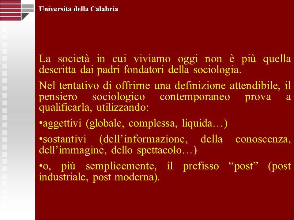 Università della Calabria Questa incertezza definitoria mostra la difficoltà di individuare quale sia il centro attorno al quale essa prende forma (ammesso che sia possibile attribuirgliene uno…).