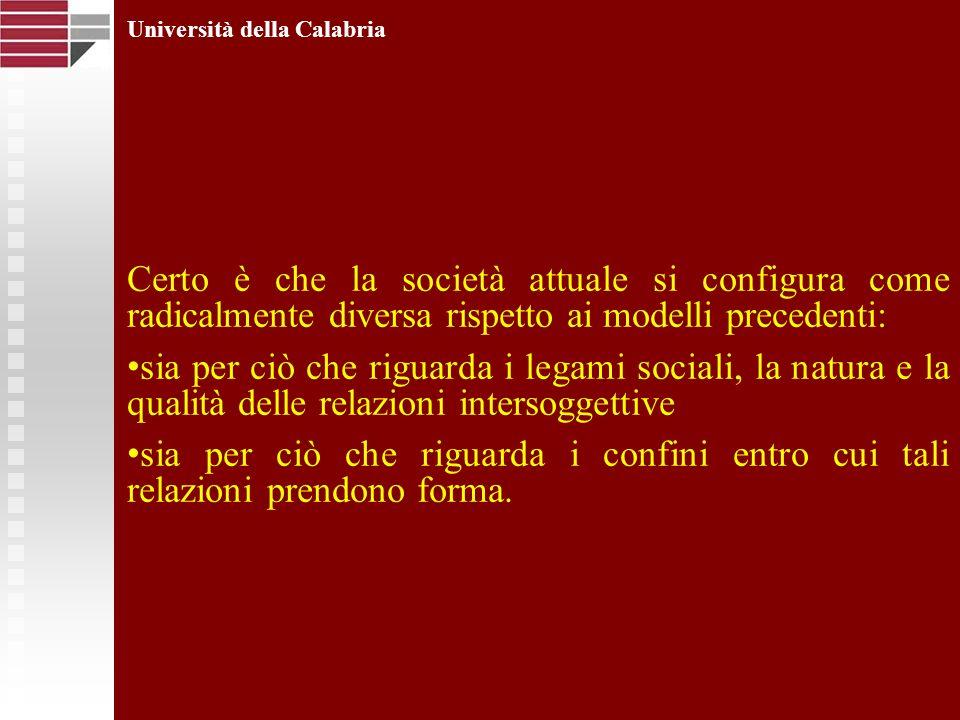 Università della Calabria La comunicazione in una prospettiva sociologica Studiare la comunicazione in una prospettiva sociologica implica riflettere su uno degli ambiti fondamentali della vita sociale che, più di altri, è andato soggetto a modificazioni nellepoca moderna e contemporanea.
