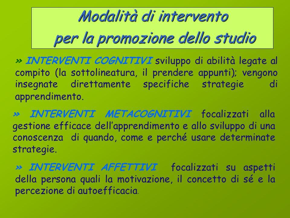 Le abilità e il metodo di studio Lo studio è unattività complessa in cui interagiscono, in un processo circolare, variabili di tipo cognitivo, metacog