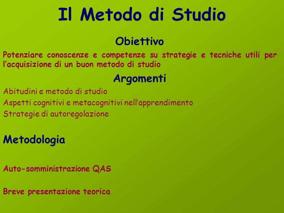Seminario Il Metodo di Studio Paola Manfredi 10 Gennaio 2013