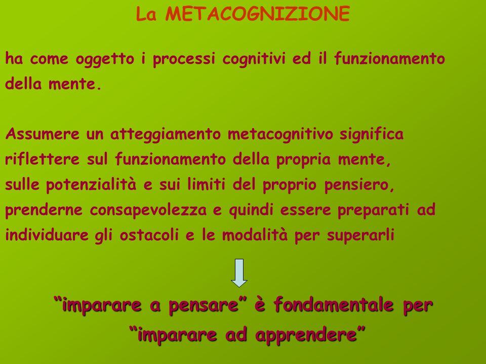 4. Potenzia i processi di controllo, la flessibilità nell'uso di strategie e l'adozione di corretti atteggiamenti di studio 5. Prevede al contempo: la