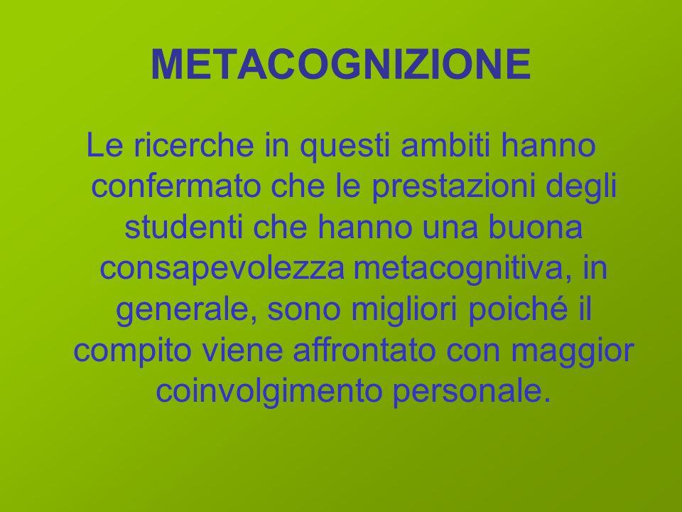 LE STRATEGIE DIDATTICHE METACOGNITIVE Il successo scolastico, si può raggiungere attraverso una serie di strategie didattiche, tese a valorizzare il p