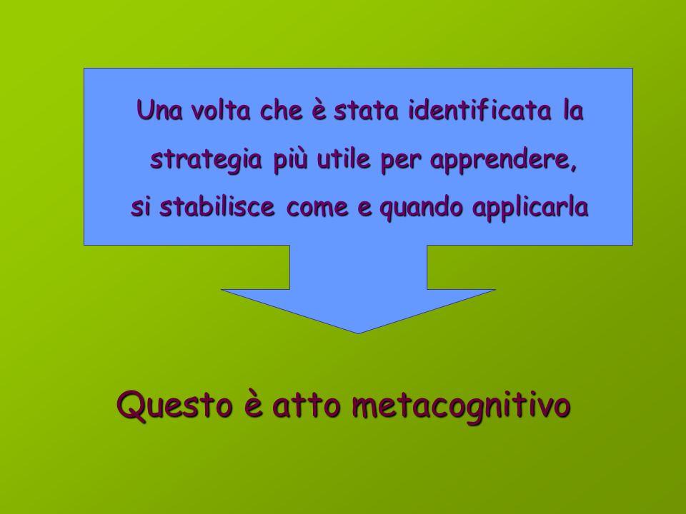 Strategie didattiche metacognitive