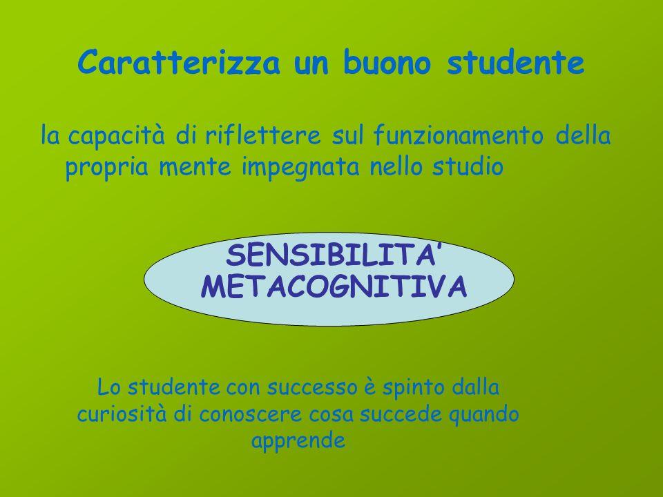 Caratterizza un buono studente la capacità di prepararsi per una prova desame STRATEGIE di preparazione ad una prova Lo studente con successo è spinto