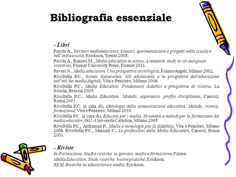 Bibliografia essenziale - Libri Parola A., Territori mediaeducativi.
