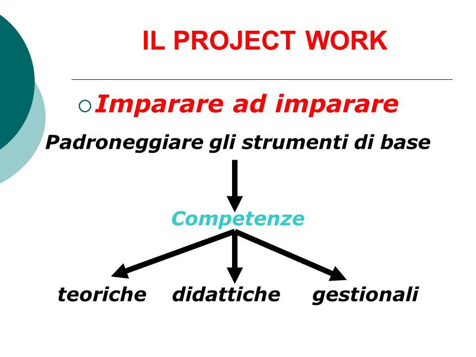 IL PROJECT WORK Spazio-area - scontro/incontro tra + minigruppi tra + ambiti di ricerca tra + metodologie Ricerca-Azione Focus group per confrontarsi ed interagire